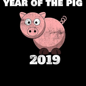Year of the pig 2019 by FairOaksDesigns