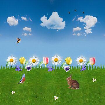 Bunny in the Garden by kdxweaver