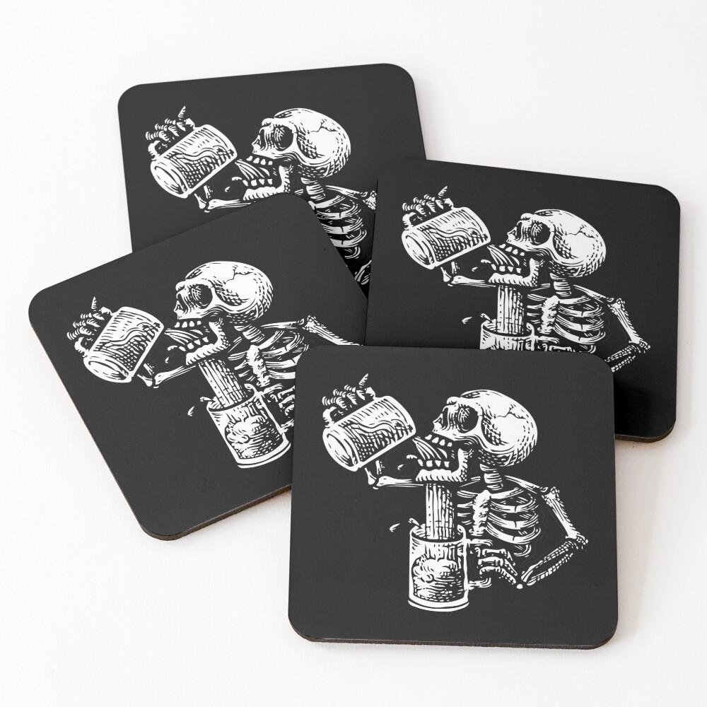 Drunk skull Coasters (Set of 4)
