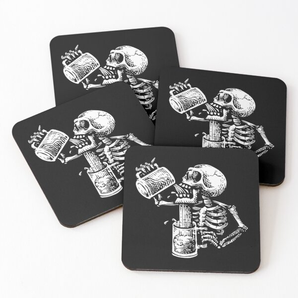 Drunk skull Coasters (Set of 4)