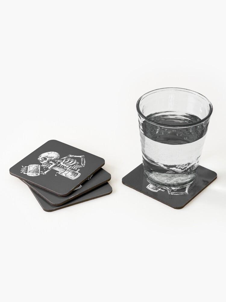Alternate view of Drunk skull Coasters (Set of 4)