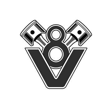 V8 Engine Piston Design by davidspeed