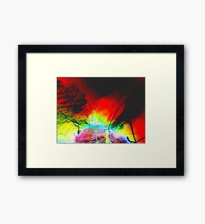 Light Painting Framed Print