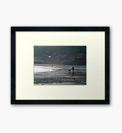 Doggie Walkers Framed Print