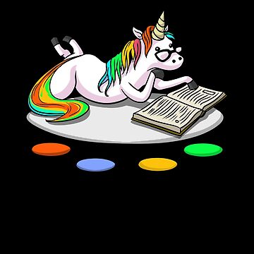 Unicorn Book Reading Lover Magical Librarian by underheaven