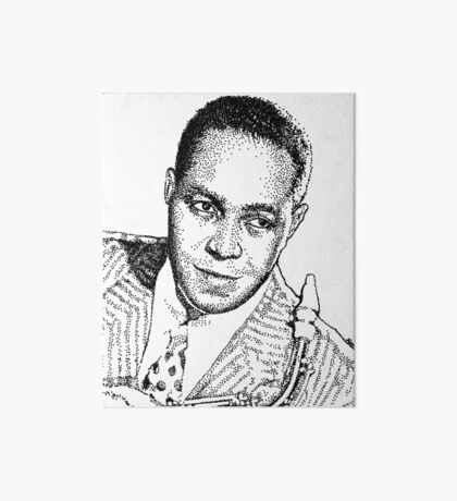 Ink drawing of Jazz icon Charlie Parker Art Board Print