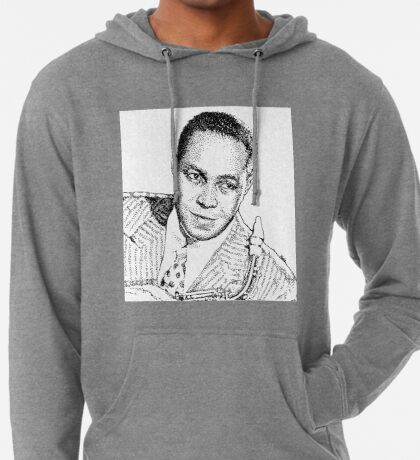 Ink drawing of Jazz icon Charlie Parker Lightweight Hoodie