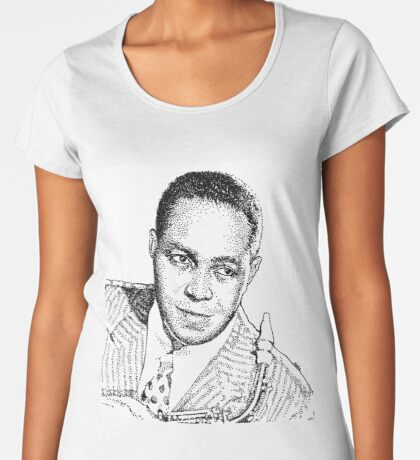 Ink drawing of Jazz icon Charlie Parker Premium Scoop T-Shirt