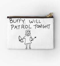 Buffy Will Patrol Tonight, Buffy the Vampire Slayer, BtVS, 90s, Hush, Joss Whedon, Giles, The Gentlemen, Once More With Feeling Studio Pouch