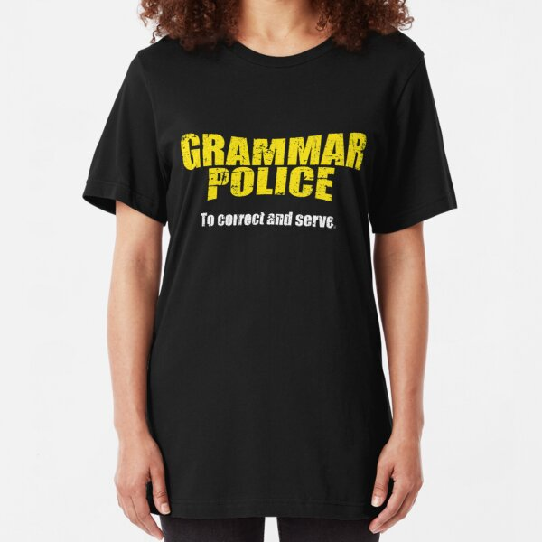 Novelty Funny Xmas Joke Spelling Correction OCD Grammar Police Men/'s T-Shirt