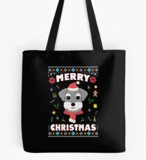 Schnauzer Ugly Christmas Sweater Merry Xmas Funny Dog Lover Tote Bag
