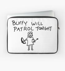 BtVS, Buffy Will Patrol Tonight, Buffy the Vampire Slayer, 90s, Hush, Joss Whedon, Giles, The Gentlemen, Once More With Feeling Laptop Sleeve