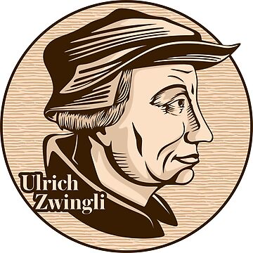 Ulrich Zwingli (1484 – 1531) was a leader of the Reformation in Switzerland. Christian figure. by biblebox