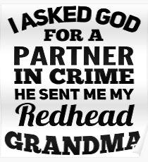 REDHEAD GRANDMA Poster