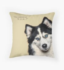Curious and Cute Husky Throw Pillow