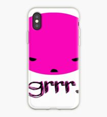 Angry Pink Blobby Head iPhone Case