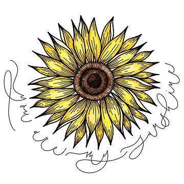 Modern Sunflower Illustration  by alwaysbookish
