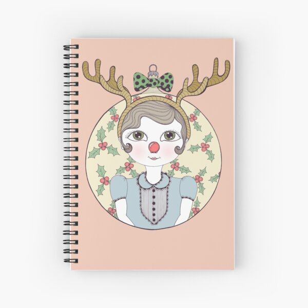 Waiting for Santa Spiral Notebook