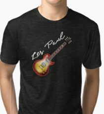 Les Paul Gibson Guitar Tri-blend T-Shirt