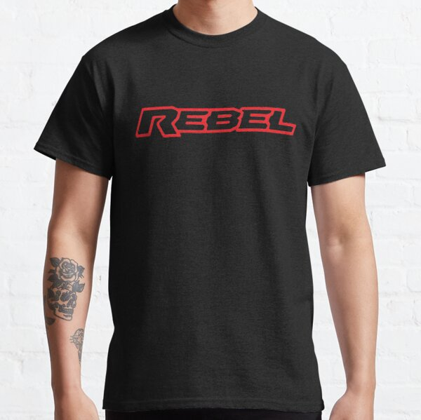 Rebel Red on Background Classic T-Shirt