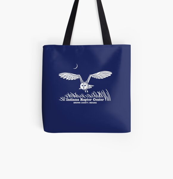 Barn Owl Indiana Raptor Center logo All Over Print Tote Bag