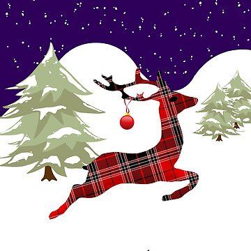 Christmas Deer by miniverdesigns