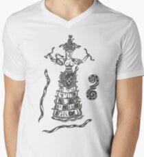 Göttin der Schlangen mit Katze.  T-Shirt mit V-Ausschnitt für Männer
