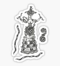 Göttin der Schlangen mit Katze.  Sticker