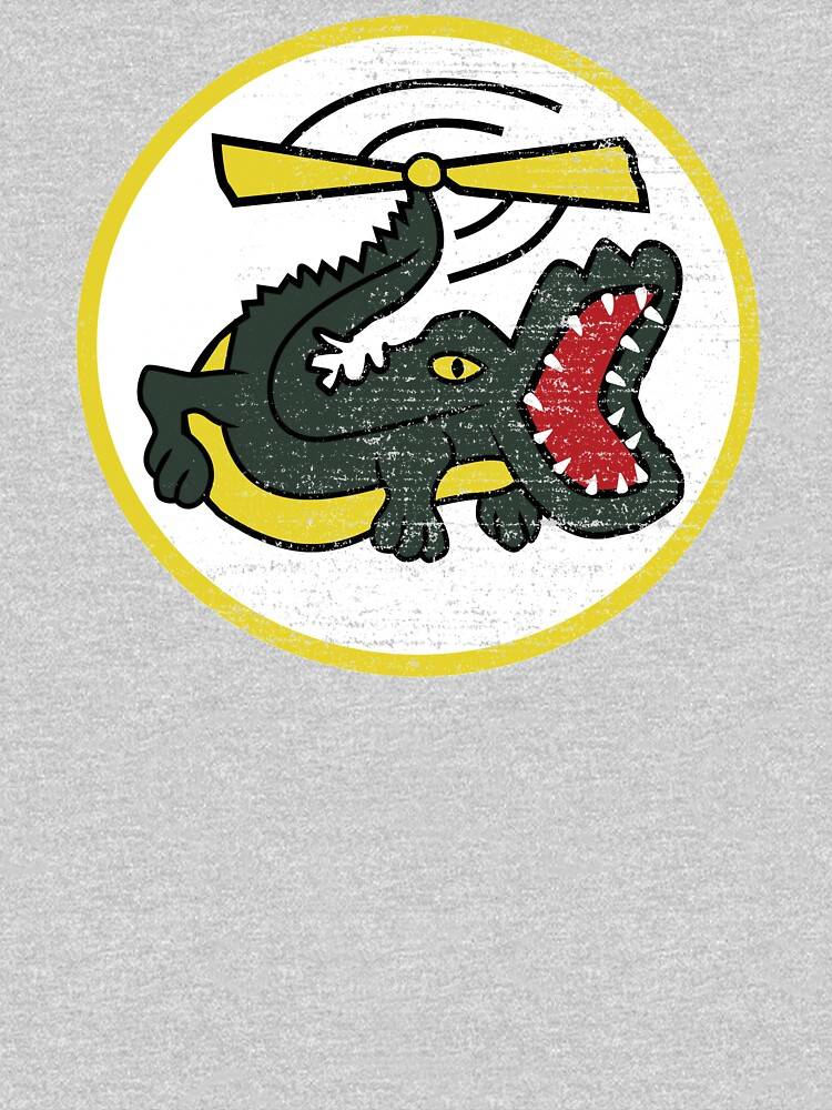 Funny Crocodile Helicopter Military Pilot Patch Shirt Gear by DynamicDesign
