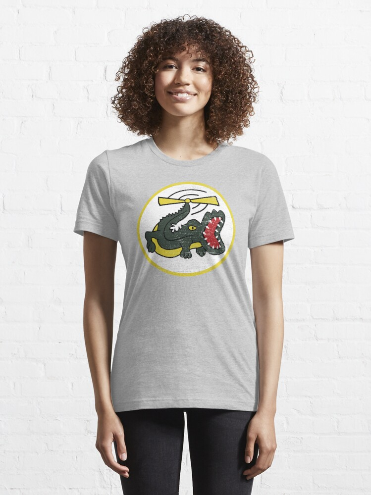 Alternate view of Funny Crocodile Helicopter Military Pilot Patch Shirt Gear Essential T-Shirt