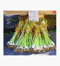 Market Series - Spring Onions Photographic Print