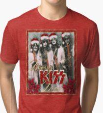 Kiss - Merry Kissmas !!! Tri-blend T-Shirt