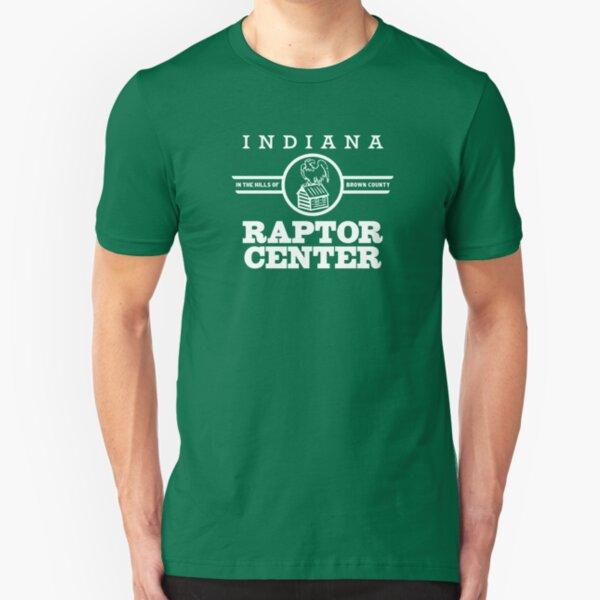Bald Eagle Cabin Indiana Raptor Center Logo Slim Fit T-Shirt