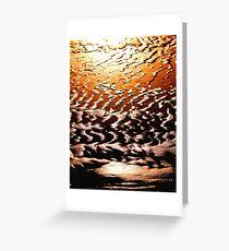 Beach on fire Greeting Card