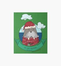 Funny Walrus Joy Love And Peace Art Board