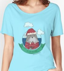 Funny Walrus Joy Love And Peace Women's Relaxed Fit T-Shirt