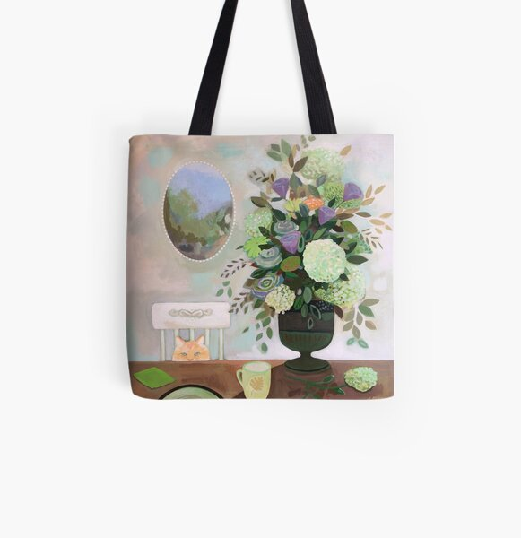 Sitting Pretty All Over Print Tote Bag