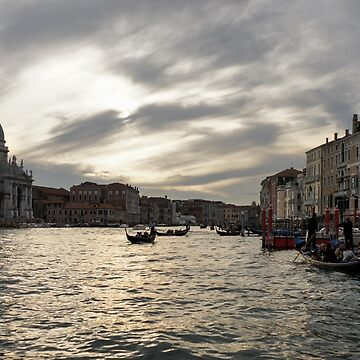 Venice, Italy - Pearly Skies on Canalazzo the Grand Canal by GeorgiaM