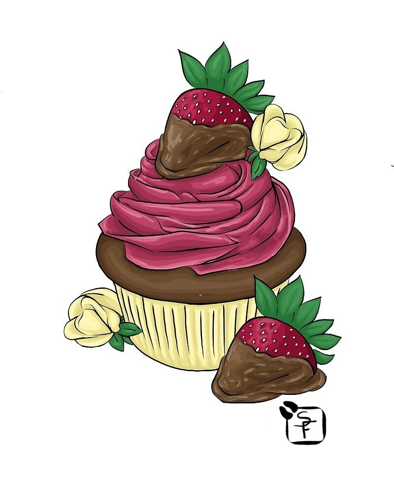 Strawberry Cupcake by SonneFaunArt