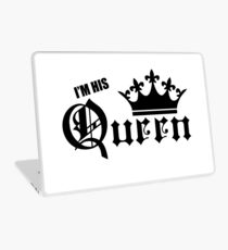 I'm His Queen Couples T-Shirts, Pillows, Phone Cases & More! Laptop Skin