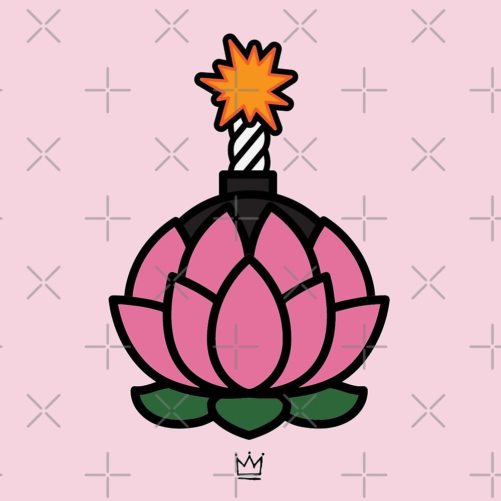 Lotus Flower Bomb By Rhinoacid Redbubble