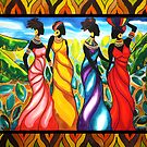 Four Ladies Belize by caribbeancolors