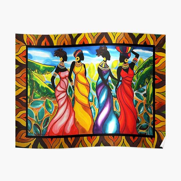 Four Ladies Belize Poster