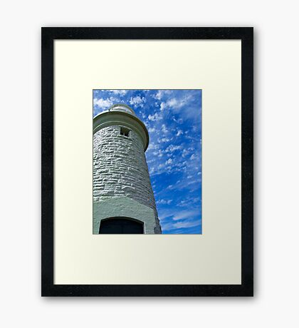 Beautiful cloud formations - Rotnest Island Lighthouse, Perth, Western Australia Framed Print