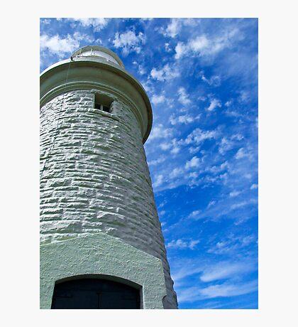 Beautiful cloud formations - Rotnest Island Lighthouse, Perth, Western Australia Photographic Print