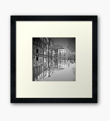 Flooding Wrecks Your Head Framed Print
