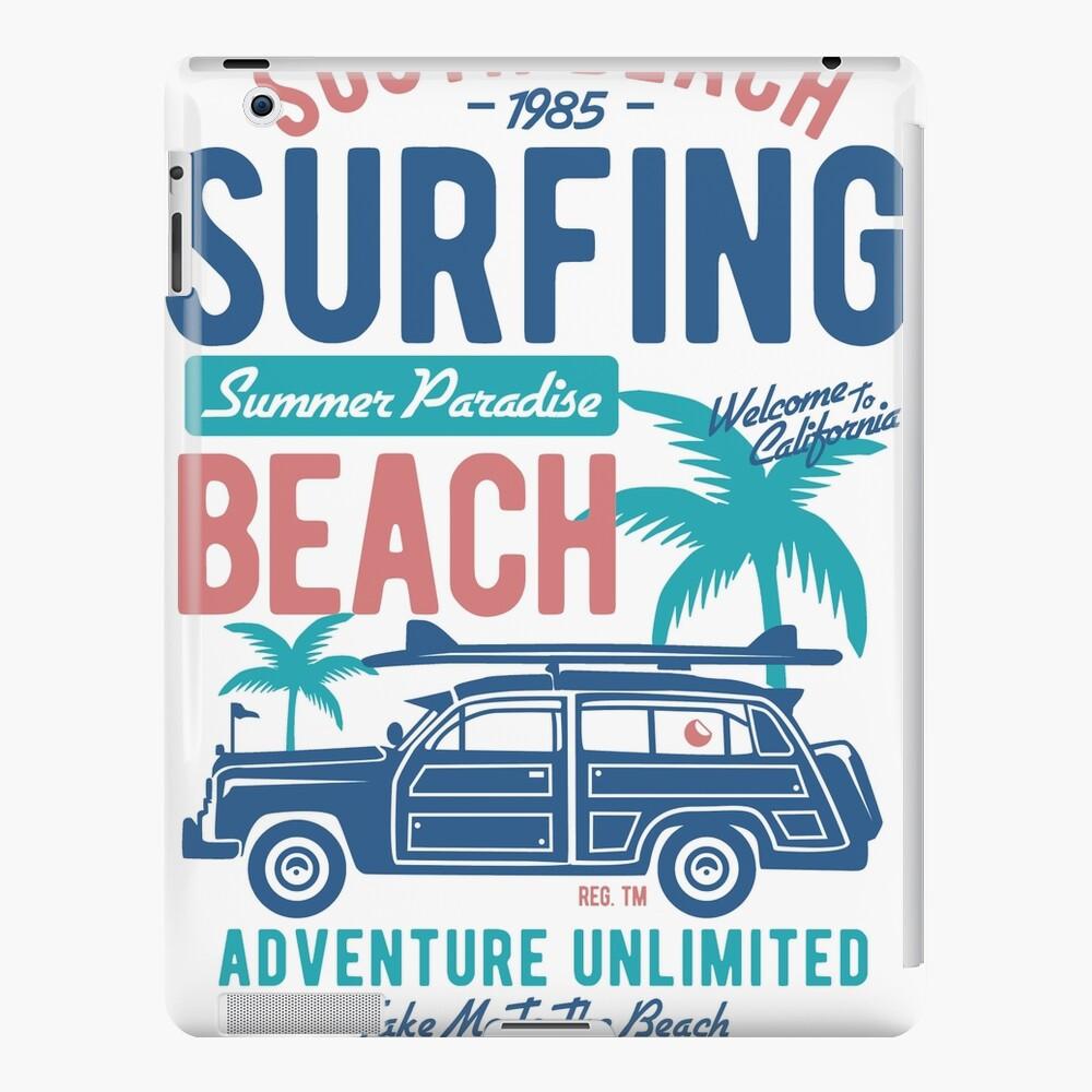 Surf Longboard Surfers Surf Surf Surf Regalo Funda y vinilo para iPad