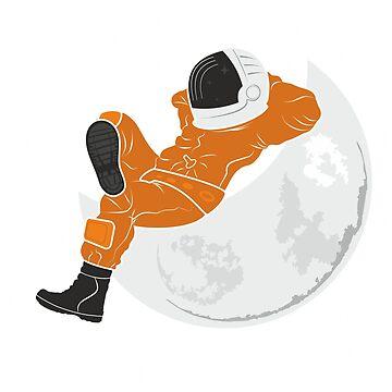Cosmonaut per moon by Desenatorul1976