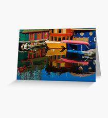 Houseboats Greeting Card