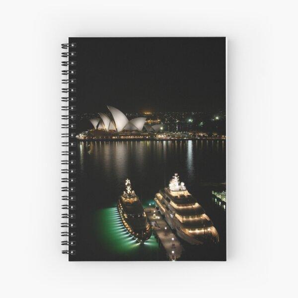 Super-villain yachts in Sydney Harbour Spiral Notebook